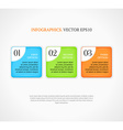 Numbered infographic options banners template vector image vector image