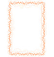 orange frame and border with gear-type mechanism vector image