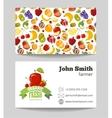 organic fruits farmer business card template