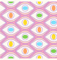 pattern with open eyes vector image vector image