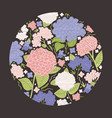 round decorative design element or modern floral vector image