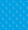 ruler pattern seamless blue vector image vector image