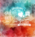 Save the date for personal holiday Wedding vector image vector image