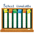 Schedule for the student vector image vector image