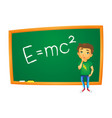 school boy stands at blackboard isolated vector image