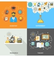 Science And Research Flat vector image vector image