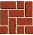 seamless brick wall made red bricks vector image