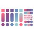 set gradient 10 vector image vector image