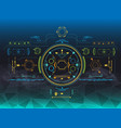 set of hud and infographic elements futuristic vector image vector image