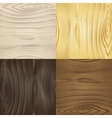 Set of seamless wood textures vector image