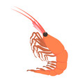 shrimp icon cartoon style vector image vector image