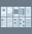 simple user interfaces network vector image