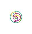 spaghetti icon logo pasta design vector image