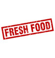 square grunge red fresh food stamp vector image vector image