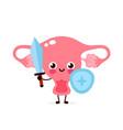 strong cute healthy happy uterus vector image vector image