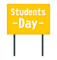 student day banner icon flat style vector image vector image
