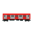 subway train tube station flat train vector image vector image