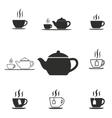 Tea icon set vector image vector image