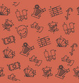 theater flat icons pattern vector image vector image