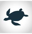 Turtle black silhouette vector image