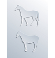 Two horses silhouettes vector image vector image