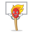 up board match stick character cartoon vector image vector image
