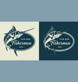 vintage monochrome seafood logotype vector image