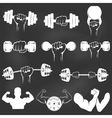 Vintage Weight Lifting Label and Sticker vector image vector image