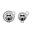walrus-sunglass-logo vector image