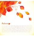 Watercolor painted autumn leaves background vector image vector image