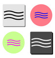 wave flat icon vector image