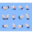 Hands gestures icons set flat vector image