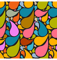 Colorful Retro Abstract Liquid Seamless Pattern - vector image