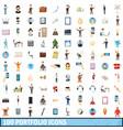 100 portfolio icons set cartoon style vector image vector image