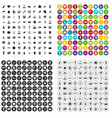 100 victory icons set variant vector image vector image