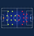 a blue cyber football field with tactical vector image