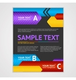 Abstract Arrows Geometric Poster Template vector image vector image