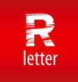 Abstract logo letter R in the form of print vector image vector image