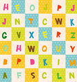 alphabet from A to Z seamless pattern Polka dot vector image vector image