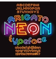 Arigato color neon typeface vector image vector image