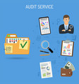 auditing and accounting banner vector image vector image