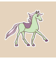 baby horse sticker vector image vector image