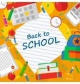Back to school poster with text vector image vector image