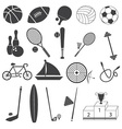 Basic Sport Icons Set vector image vector image