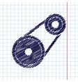 belt drive vector image