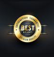 best brand satisfction golden label vector image vector image