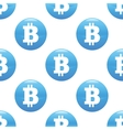 Bitcoin sign pattern vector image vector image
