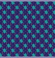 blue and gold jewish star pattern vector image vector image