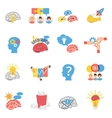 Brainstorm Creative Flat Icons Set vector image