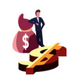 businessman money dollar vector image vector image